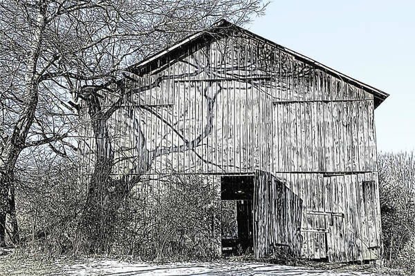 Drawing - Barn Sketch 897 by Ericamaxine Price
