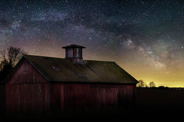 Photograph - Barn Under The Stars by Bill Wakeley