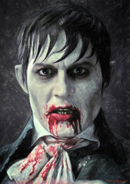 Johnny Depp Painting - Barnabas Collins by Zapista Zapista