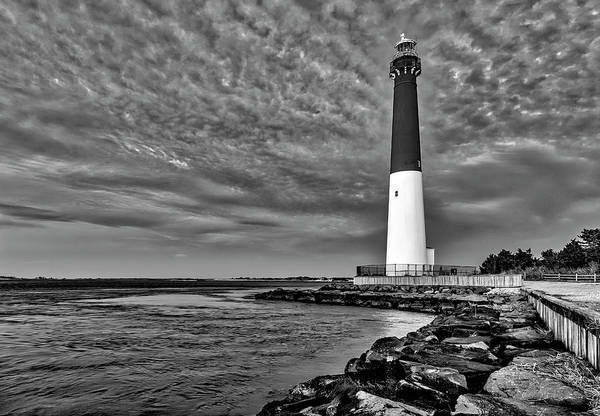 Wall Art - Photograph - Barnegat Lighthouse Afternoon Bw by Susan Candelario