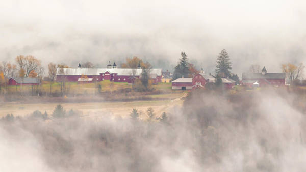Wall Art - Photograph - Barns In The Fog by Tim Kirchoff
