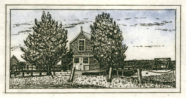 Wall Art - Mixed Media - Barnstable Yacht Club Etching by Charles Harden