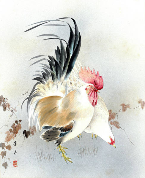 Painting - Barnyard Fowl by Hotei