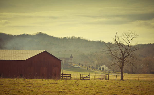 Barn Storm Wall Art - Photograph - Barnyard In Wears Valley by Thepalmer
