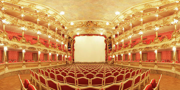 Wall Art - Photograph - Baroque Theater Panorama - Place Your by Sebastian-julian