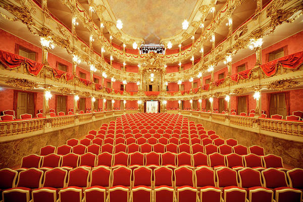 Wall Art - Photograph - Baroque Theater View Into The Audience by Sebastian-julian