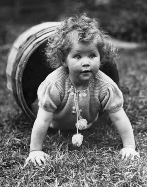 Playful Photograph - Barrel Of Fun by Reg Speller