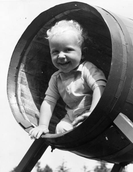 Reportage Photograph - Barrel Of Laughs by Fred Morley