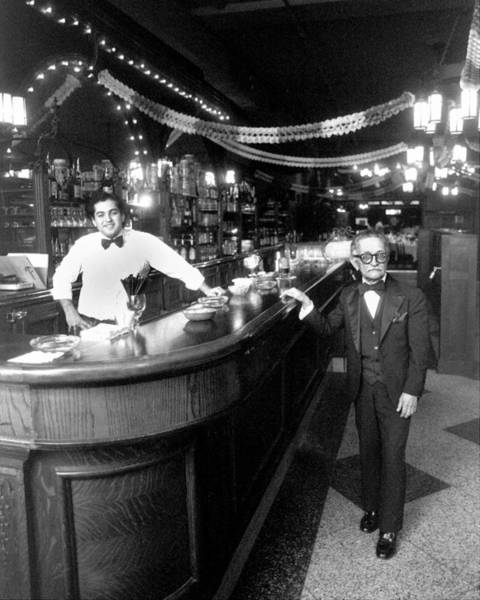 Waiter Photograph - Bartender Enzo Cappcutti And Waiter by New York Daily News Archive