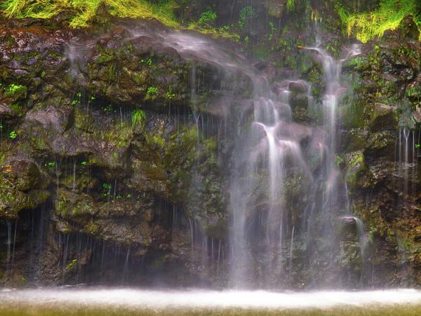 Photograph - Base Of Waimoku Falls by Christopher Johnson
