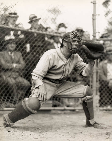 Sport Photography Photograph - Baseball Catcher by George Marks