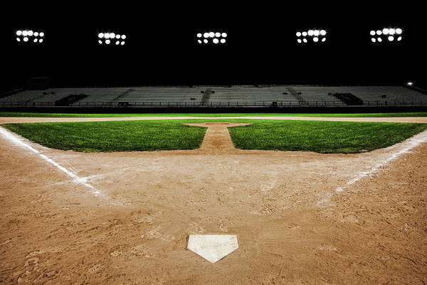 Sport Photography Photograph - Baseball Diamond At Night by Jgareri