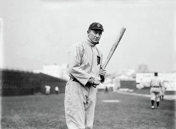 Photograph - Baseball Great Ty Cobb by Digital Reproductions
