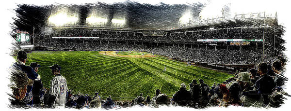 Jon Lester Photograph - Baseball Hey Hey Cubs Game Under The Lights Pa by Thomas Woolworth