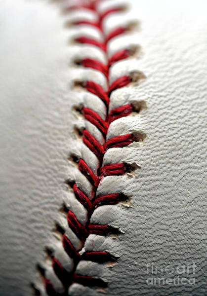 Photograph - Baseball Leff Stitches  by John Rizzuto