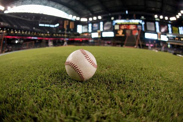 Sport Fish Photograph - Baseball On Field Fish-eye by Jerry Driendl