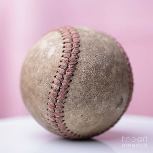 Photograph - Baseball Pink Square by Edward Fielding
