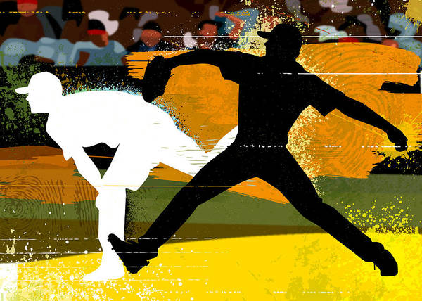 Baseball Pitcher Digital Art - Baseball Pitcher Throwing Baseball by Greg Paprocki