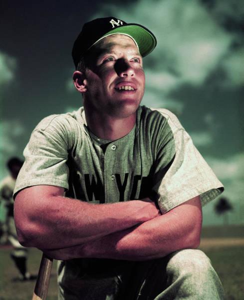 Photograph - Baseball Player Mickey Mantle by Bettmann