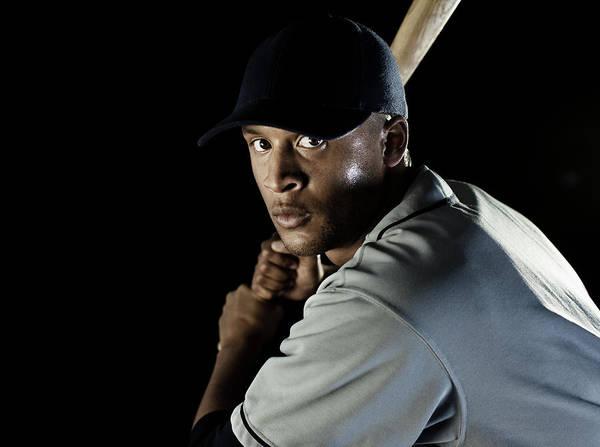Black Cap Photograph - Baseball Player by Patrik Giardino