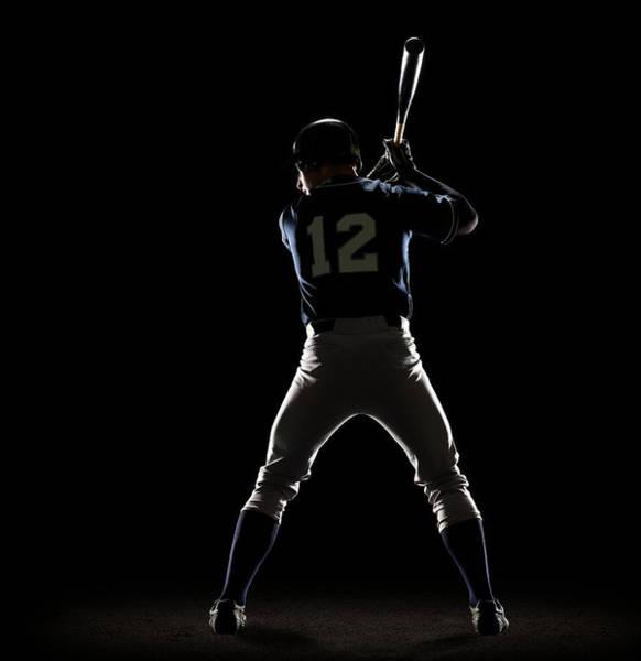 Sport Photograph - Baseball Player Preparing To Swing Bat by Lewis Mulatero