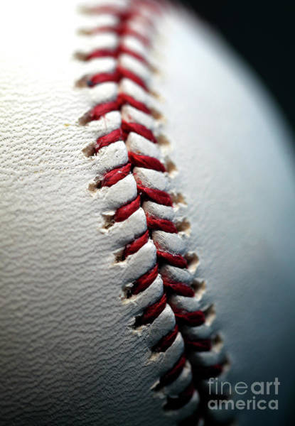 Photograph - Baseball Right Stitches by John Rizzuto