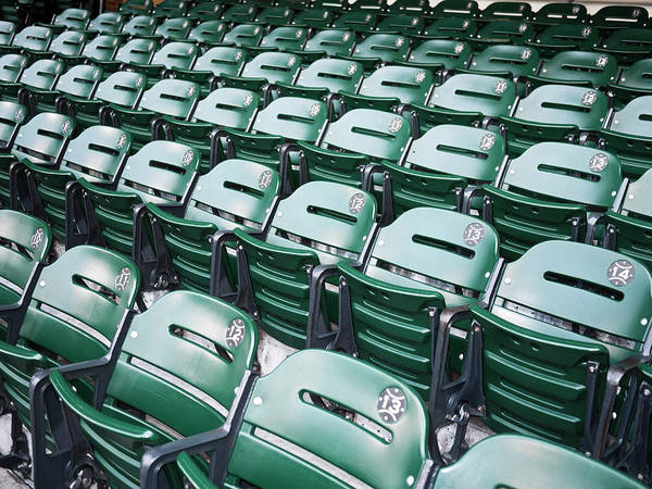 Head Tilt Photograph - Baseball Stadium Seats by Nazdravie