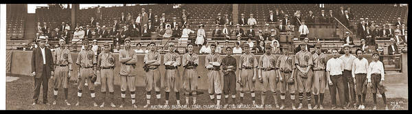 Wall Art - Photograph - Baseball Team, Cropped From Larger by Fred Schutz Collection