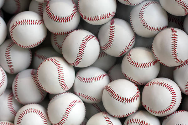Ball Photograph - Baseballs by Hidehiro Kigawa