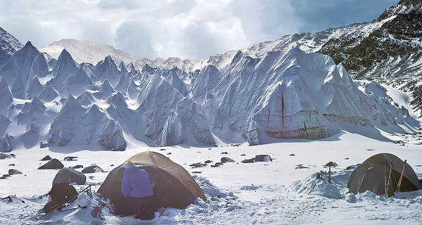 Tent Photograph - Basecamp In The Himalayas Of Tibet by Istvan Hernadi Photography... Mountain Visions