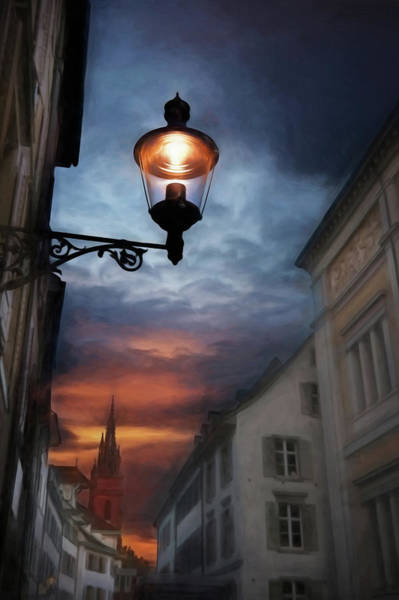 Wall Art - Photograph - Basel Switzerland Historic Old Town At Dusk by Carol Japp