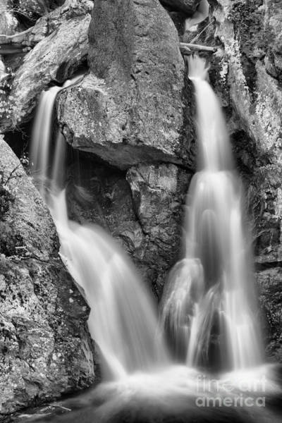 Photograph - Bash Bish Falls Double Streams Black And White by Adam Jewell
