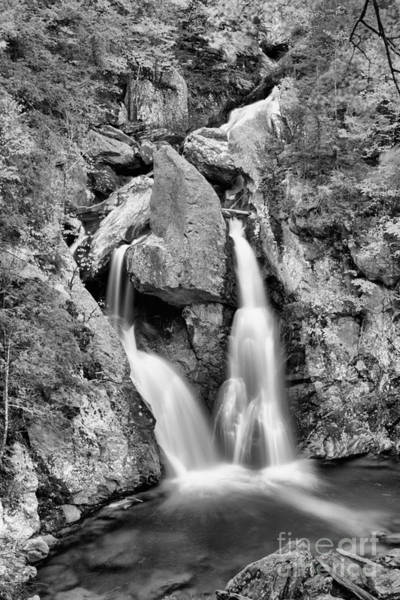 Photograph - Bash Bish Falls Emerald Pool Black And White by Adam Jewell