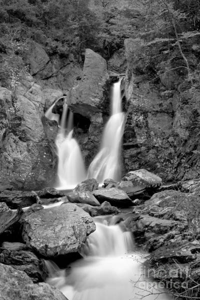 Photograph - Bash Bish Falls Stream Black And White by Adam Jewell