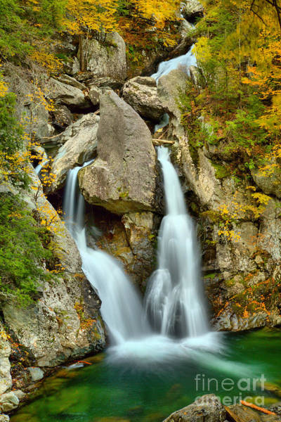 Photograph - Bash Bish Framed By Fall Foliage by Adam Jewell