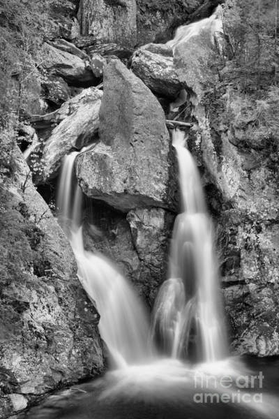 Photograph - Bash Bish Framed By Fall Foliage Black And White by Adam Jewell