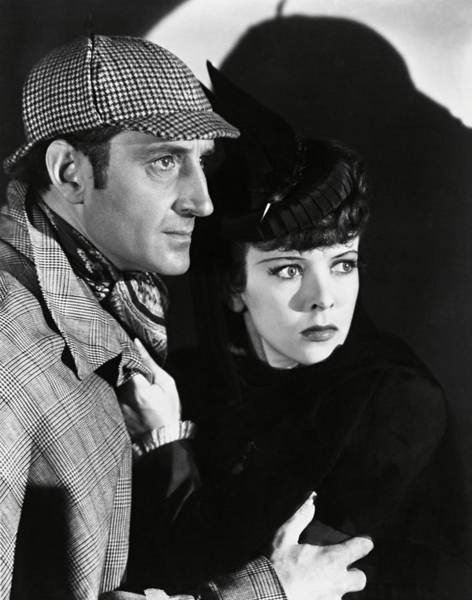 Conan Photograph - Basil Rathbone And Ida Lupino In The Adventures Of Sherlock Holmes -1939-. by Album