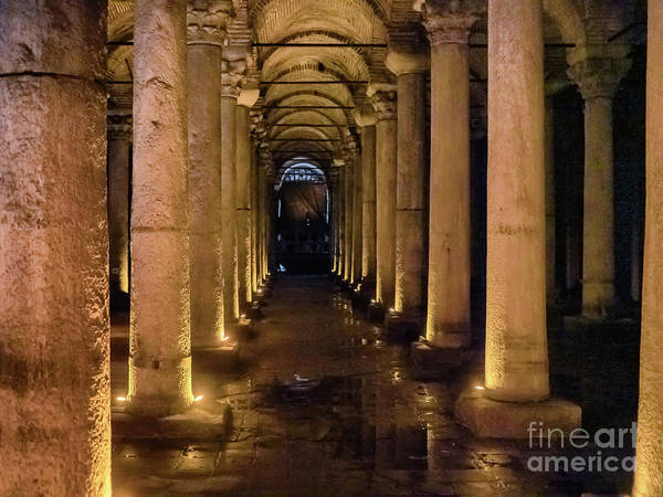 Basilica Cistern Photograph - Basilica Cistern In Central Istanbul, Turkey by Frank Bach