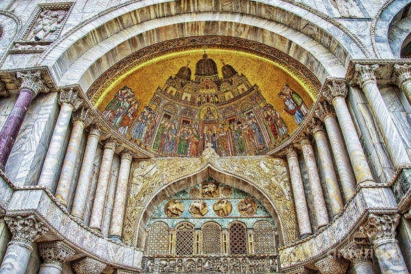 Basilica Photograph - Basilica Di San Marco by Delphimages Photo Creations