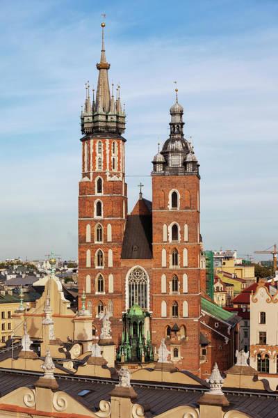 Wall Art - Photograph - Basilica Of Saint Mary In Krakow by Artur Bogacki