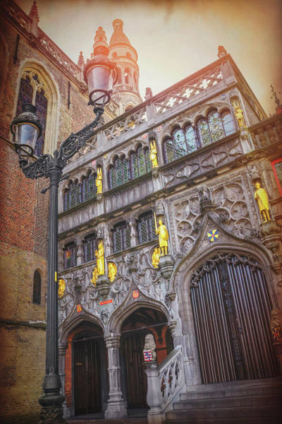Town Square Wall Art - Photograph - Basilica Of The Holy Blood Bruges Belgium  by Carol Japp