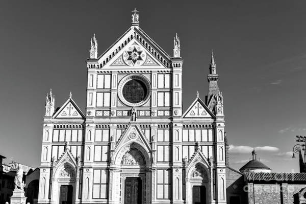 Photograph - Basilica Of The Holy Cross In Florence by John Rizzuto