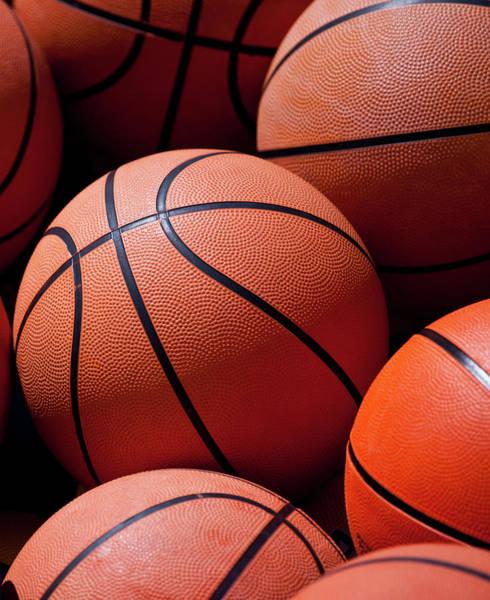 Team Sport Photograph - Basket Balls by Amit Basu Photography