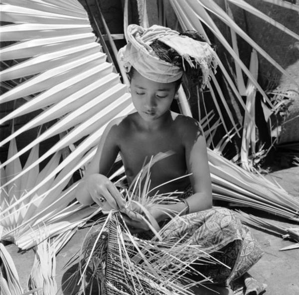 Indonesian Culture Photograph - Basket Maker by Ebri