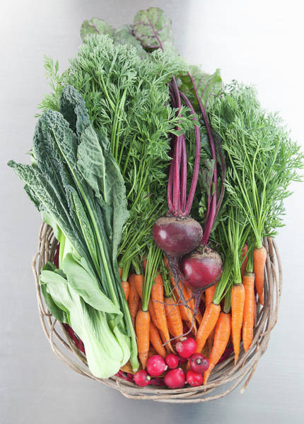Healthy Eating Photograph - Basket Of Fresh Vegetables by Laurie Castelli