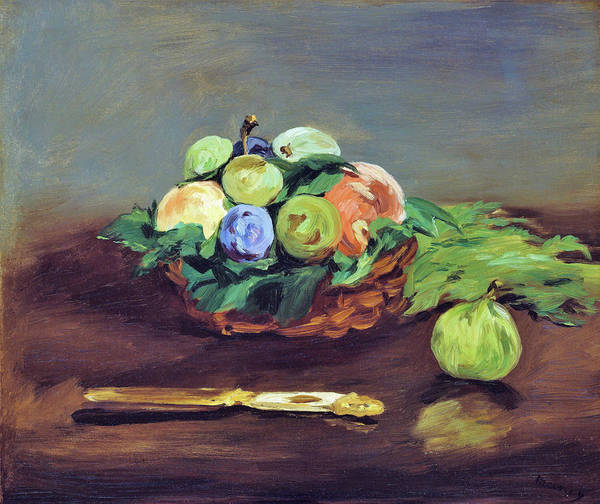 Wall Art - Painting - Basket Of Fruit - Digital Remastered Edition by Edouard Manet