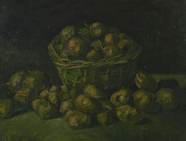 Potato Painting - Basket Of Potatoes - 1 by Vincent van Gogh