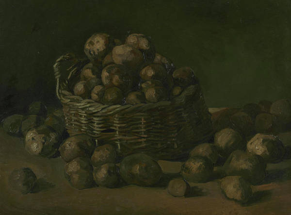 Potato Painting - Basket Of Potatoes by Vincent van Gogh