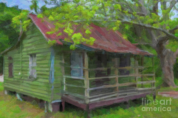 Painting - Basket Weaver Home - Red Tin Roof by Dale Powell
