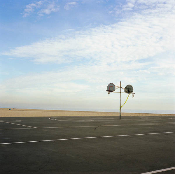 Photograph - Basketball Court At Beach by Blake Sinclair